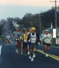Leaders on the road out of Boonsboro in 1999