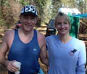 Mike Broderick with Michele Burr at Rocky Raccoon 100