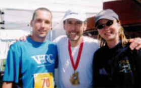 Jack after his finish with Sean (left) and Barbara. Photo: Bunny Runyan