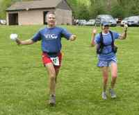 Anstr and Vicki finishing Promise Land 50km