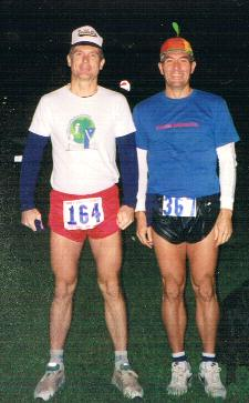 Anstr and Chris before the 92 JFK. Chris's shirt said, 'Drain Bamaged.'