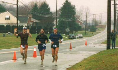 Anstr in 10th finish in 1992 with Tim Stanley and Chris Scott. Note last hill in background to right