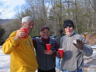 Chris Scott, Gary Knipling, and Randy Dietz at the post run non-event.