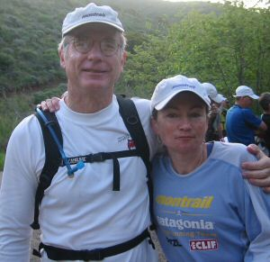 Anstr Davidson and Sue Johnston before start of last day's run.
