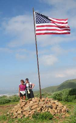Laura and Colleen on the top of Mugu Peak