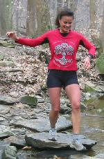 Laura DeWald at the Potomac Overlook Trail Runs