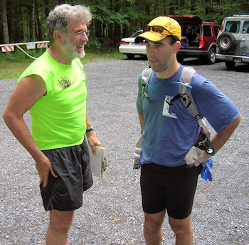 Dennis and Jaret at the finish