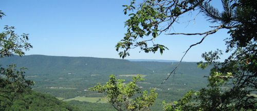The Massanutten Mountain from Milford Gap