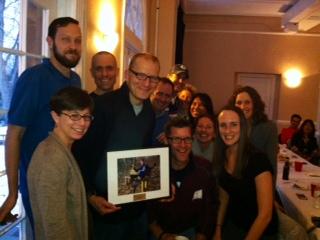 Team Gaylord accepts Bob's Ambassador Award