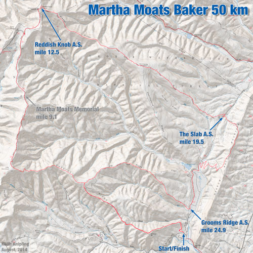 Martha Moats Baker Course Map