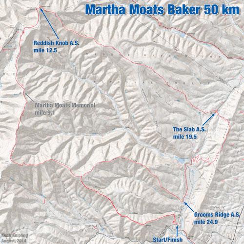 Martha Moats Baker Course Map