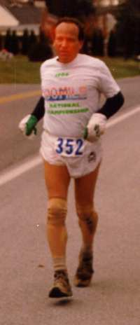Paul Blackman finishing JFK in 1989